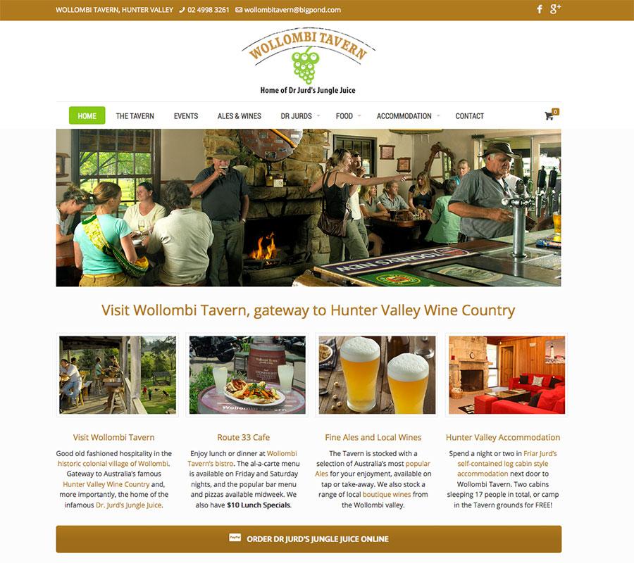 Wollombi Tavern website built by Rapid Websites